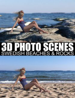 3D Photo Scenes- Swedish Beaches And Rocks