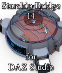 Starship Bridge 14 for DAZ Studio