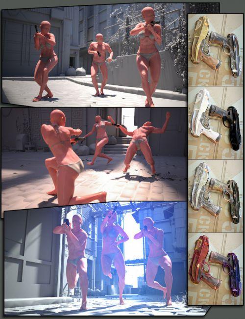 CS01: Shooting Poses and Gun for Genesis 8