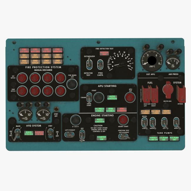 Mi-8MT Mi-17MT Central Overhead Board English - Extended License