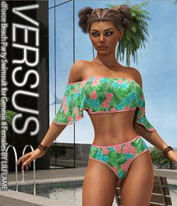 VERSUS- dForce Beach Party Swimsuit for Genesis 8 Females