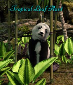 Tropical Leaf Plant For Iray Plus Mirrored Versions