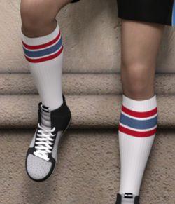 Sport Styles for CJ Studio Tube Socks for Genesis 3 and 8 Females
