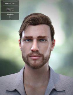 Trevor Hair Set for Genesis 8 Male(s)