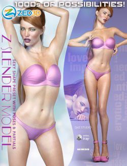Z Slender Model Shape Preset and Poses for Genesis 8 Female
