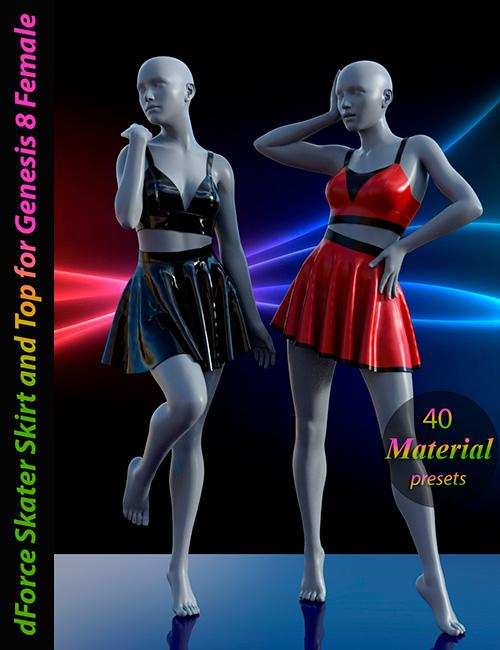 dForce Skater Skirt with Top for Genesis 8 Female