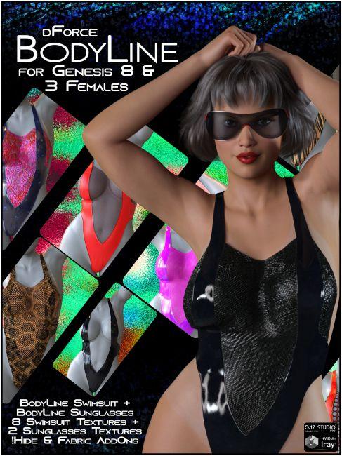 dForce BodyLine for Genesis 8 and 3 Females
