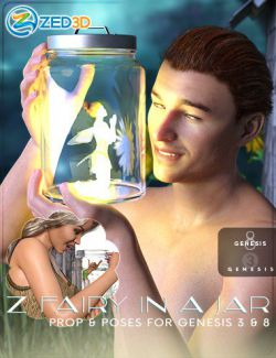Z Fairy in a Jar Props and Poses for Genesis 3 and 8