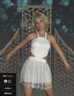 dForce Tessa Dress for Genesis 8 Female(s)