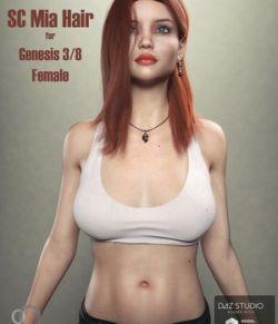 SC Mia Hair for Genesis 3 - 8 Female