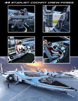 StarJet Cockpit Crew Poses