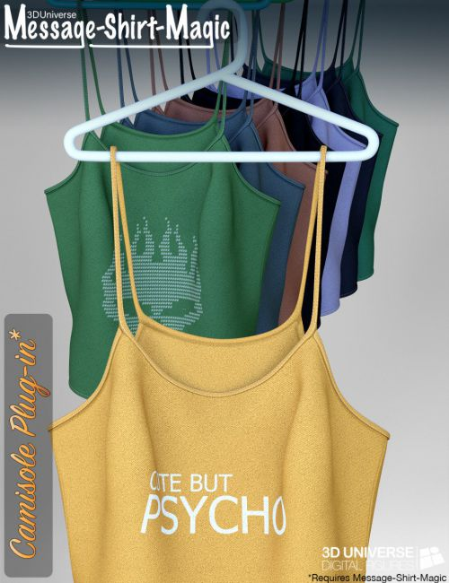 Message-Shirt-Magic Camisole Plugin for Genesis 8 Female(s)