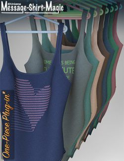 Message-Shirt-Magic One-Piece Plugin for Genesis 8 Female(s)