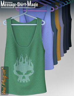 Message-Shirt-Magic Vest Plugin for Genesis 8 Female(s)