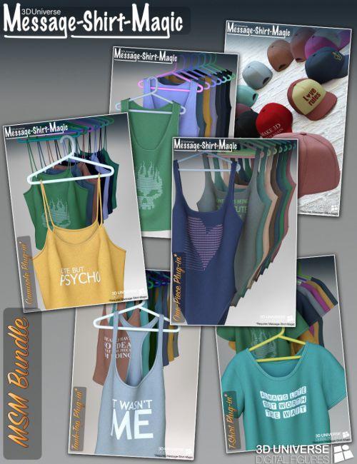 Message-Shirt-Magic Bundle for Genesis 8 Female(s)