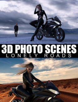 3D Photo Scenes- Lonely Roads