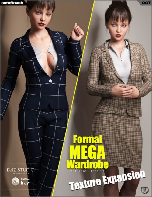 Formal MEGA Wardrobe for Genesis 8 Female(s) Texture Expansion