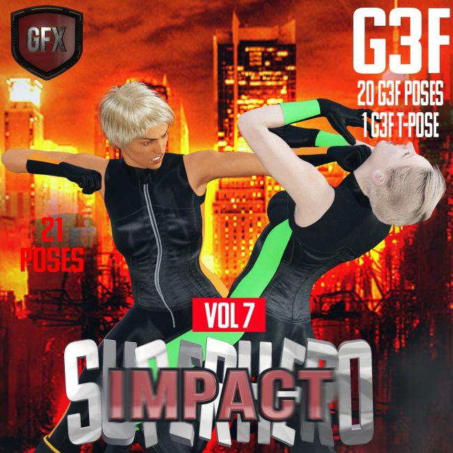 SuperHero Impact for G3F Volume 7