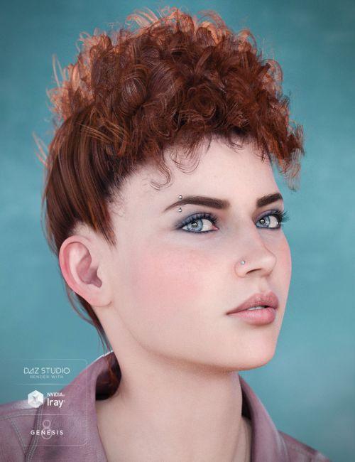 Bernedette Hair for Genesis 8 Female(s)
