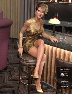 dForce Lacey Dress for Genesis 8 Female(s)