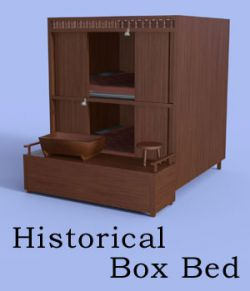 Historical Box Bed For Daz Studio Iray