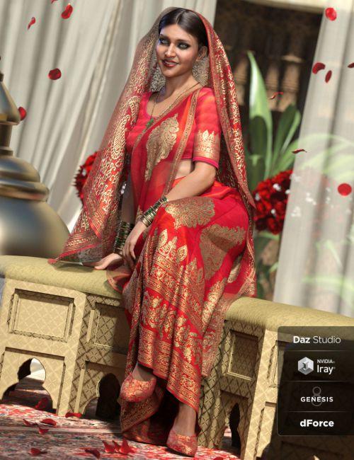 dForce Bollywood Bride for Genesis 8 Female(s)