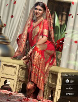 dForce Bollywood Bride for Genesis 8 Female(s)