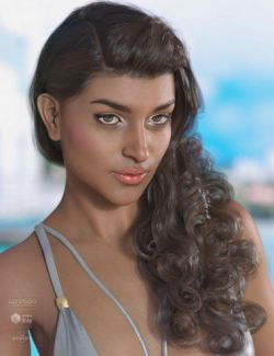 Nesena Hair for Genesis 3 & 8 Female(s)