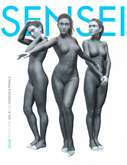 Sensei Poses for Kala 8 and Genesis 8 Female