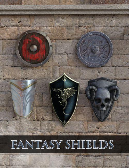 Epic Fantasy Shields for Daz Studio 4