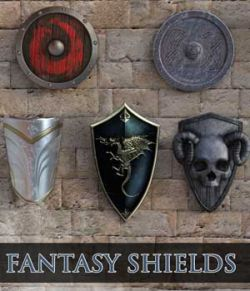 Epic Fantasy Shields for Daz Studio 4