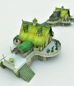 Elven Village Woodshaper for Poser