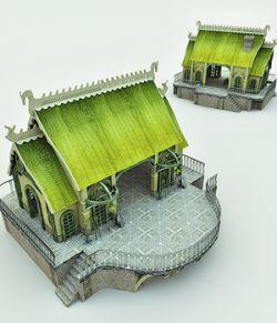 Elven Village Blacksmith for Blender