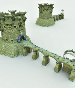 Elven Village Guardhouse for Poser