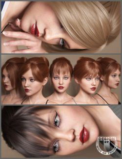 MEGA Updo Hair for Genesis 3 and 8 Female(s)