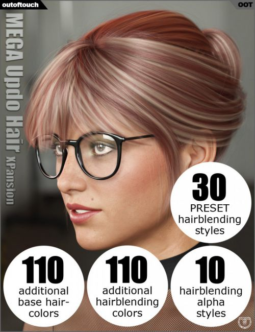 OOT Hairblending 2.0 Texture XPansion for MEGA Updo Hair