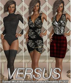 VERSUS- Formal MEGA Wardrobe for Genesis 8 Females