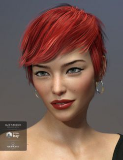 Sam Hair for Genesis 3 and 8 Female(s)