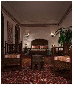 Moroccan Riad Bedroom