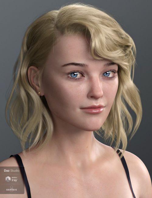 Haydina Hair for Genesis 8 Female(s)