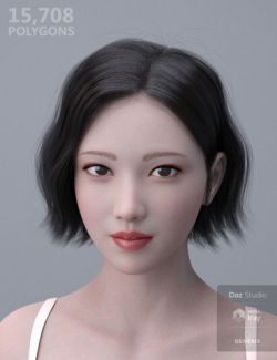 HY Wavy Bob Hair for Genesis 3 and 8