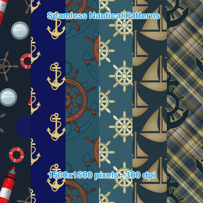 Seamless Nautical Patterns