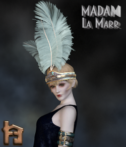 Madam La Marr 1920's Flapper HeadBand & ArmBands