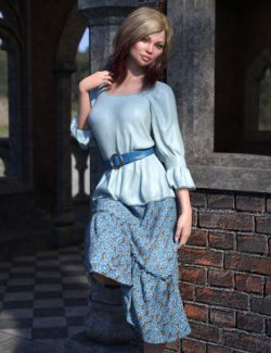 dForce Collection 03- Boho Outfit for Genesis 8 Female(s)