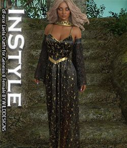 InStyle- dForce Laela Outfit for Genesis 8 Female