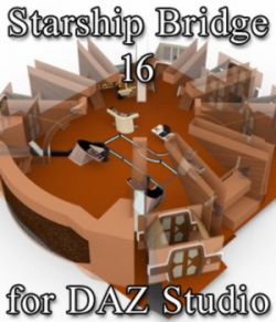 Starship Bridge 16 for DAZ Studio