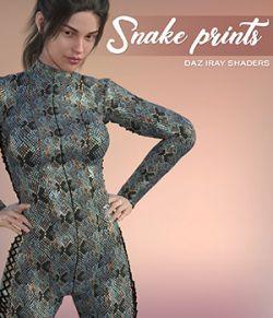 Daz Iray- Snake Prints