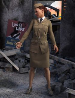 Blitz Girl Uniform for Genesis 8 Female(s)