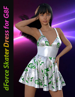 dForce Skater Dress for Genesis 8 Female