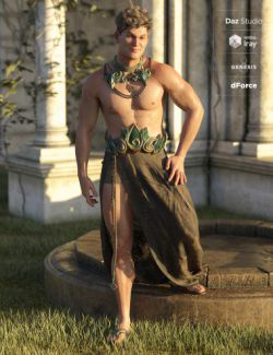 dForce Aegis Outfit for Genesis 8 Male(s)